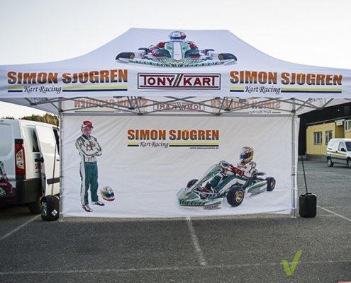 Faltzelt - rennzelt werbezelt motocross zelt
