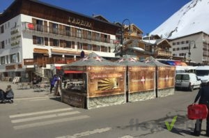 Werbezelt - LPtent Faltzelt werbung Promotion bedrucktes Faltzelt Berge