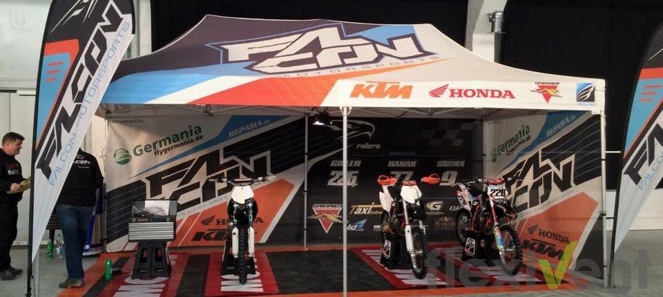 Werbezelt - Motocross Faltzelt KTM Promotionmaterial