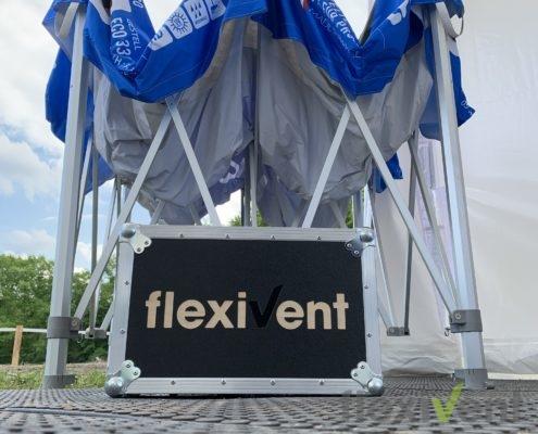 Flightcase - Promotionmaterial Zeltboden robustes Faltzelt