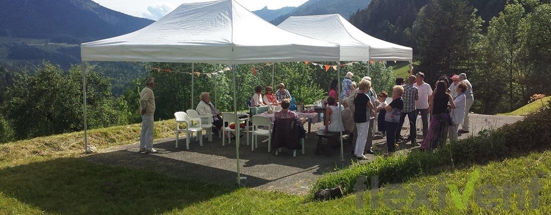 Faltzelt - Gartenzelt Gebirge Gartenparty