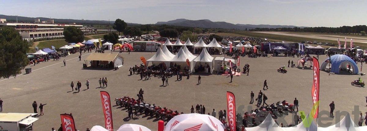 Promotionmaterial Werbezelt Airtent Beachflag Motorrad Festival