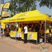 Werbezelt - tour de france Faltzelt LPTent Werbung Beachflag