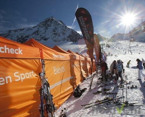 Werbezelt - Wintersport Faltzelt LPTent Werbung