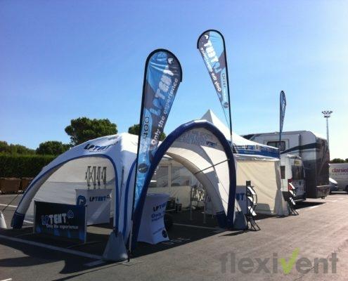 Airtent - LPTent Airmonster aufblasbares Zelt beachflag
