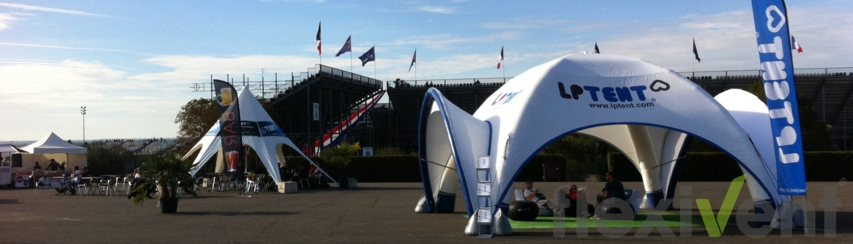 Veranstaltungszelt LPTent Airtent Starfull Luftzelt Sternzelt Beachflag