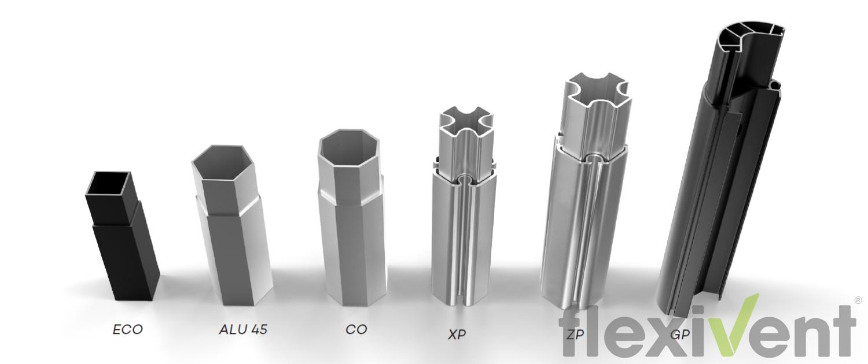 Faltzeltgestelle - querschnitt aluminiumgestell aluminiumzelt faltzelt