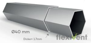 Stabiles Faltzelt - LPTent Rahmen querschnitt Gestell ALU45