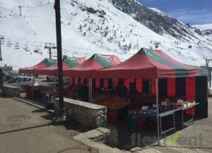 marktstand - Faltzelt LPTent Berge Schnee verkauf