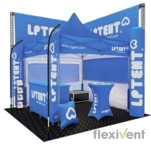 messestand Promotionmaterial LPTent Werbung Verkauf Messe