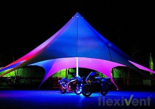 Sternzelt - LPTent starfull PVC beleuchtet bei Nacht