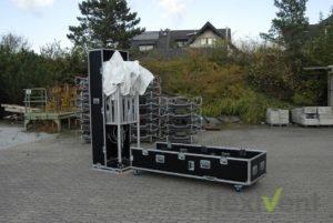 Zeltcase - Flightcase für faltzelt Pagode halboffen