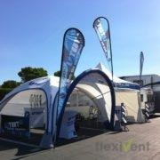 Airtent - LPTent Werbezelt für Promotion mit Beachflags