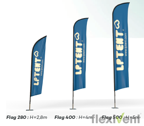 Beachflag - LPtent flag Werbefahne größen