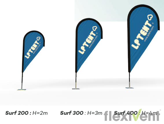 Beachflag - LPtent surf Werbefahne größen