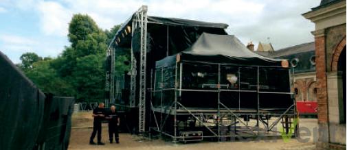 FOH Zelt - Faltzelt LPTent schwarz Bühne Event