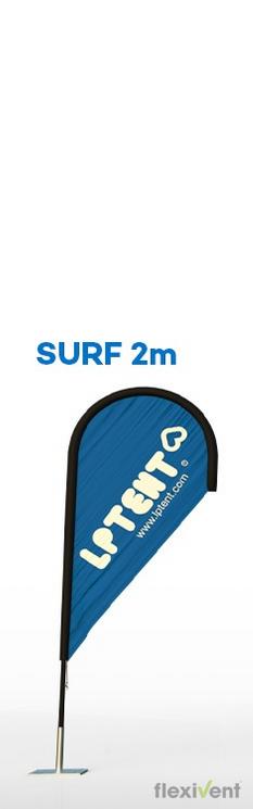 beachflag surf 2 meter fahne werbefahne werbung