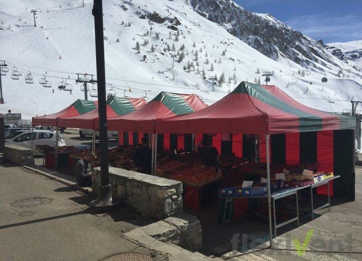 marktstand - verkaufszelt berge ski