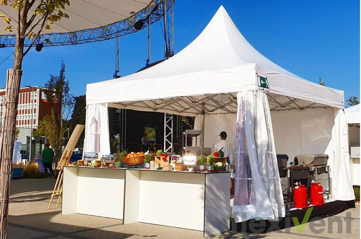 Pagode - Faltzelt Catering 5x5m Faltzeltpagode veranstaltung