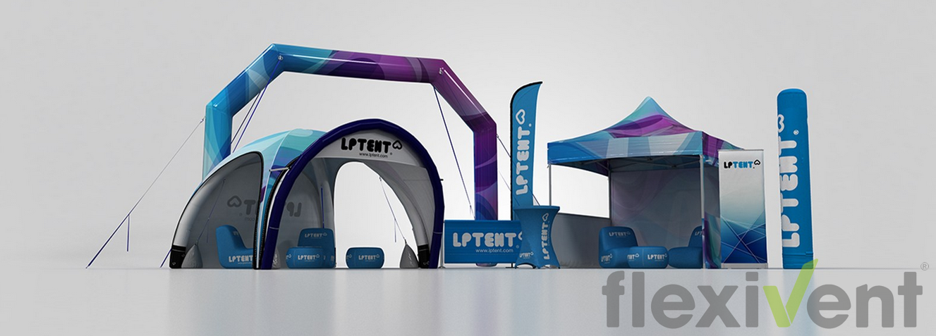 Werbematerial LPTent Promotion Werbung Faltzelt aufblasbares Zelt