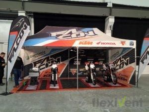 Werbezelt KTM Motorrad Rennzelt mit Beachflag