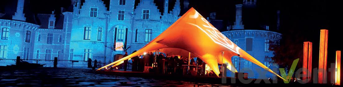 Sternzelt - Bei Nacht beleuchtet zum mieten und leihen