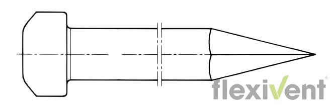 Zeltnagel Typ VG95519 Zeichnung
