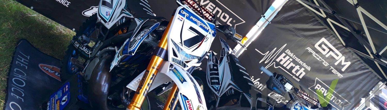Motocross motorrad rennstall faltzelt racing ravenol zelt werbung