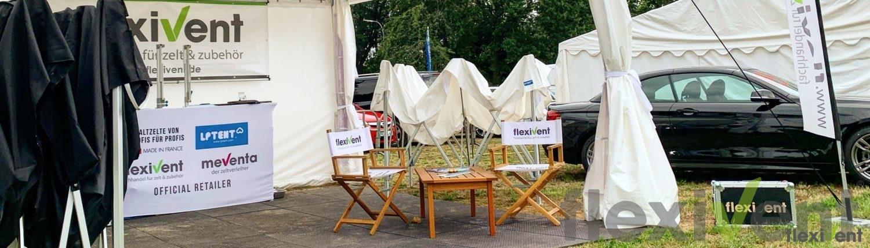 Promotio - flexivent werbezelt pagode faltzelt regiestuhl liegestuhl
