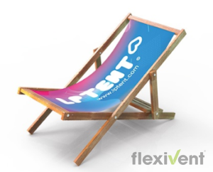 liegestuhl - lptent bedruckt flexivent promotion werbedruck
