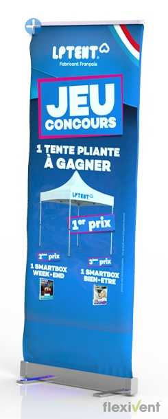 roll up - flexivent lptent werbung banner rollup