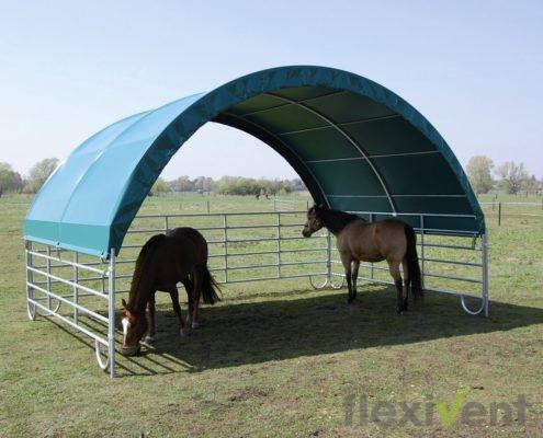 weiderzelt - mobile cover pferd wiese weide