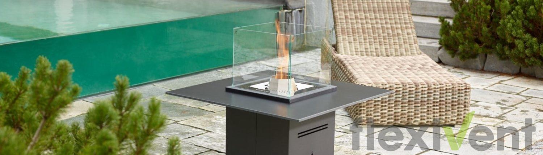 pelmondo Cube - Feuerstelle Garten Lounge terrasse flamme pellets feuermöbel