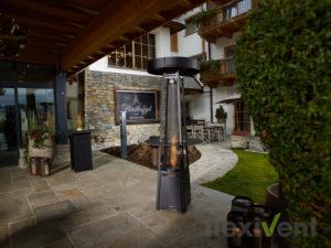 pelmondo Lounge - Heizpilz eingang hotel feuer pellets feuermöbel