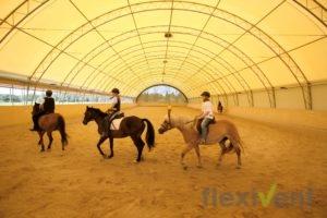 Reithalle - Weidezelt Bande Zelt mobil Reitboden pferde reitunterricht